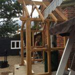 oak porch construction