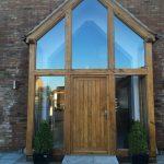 glass green oak porch
