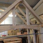 oak porch frame