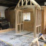 porch frame under construction