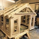 green oak porch under construction